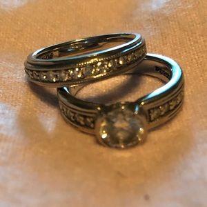 Engagement and wedding ring. Reis-Nichols jewelry